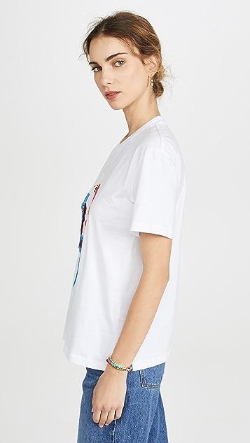 Markus Lupfer Anna 亮片美洲驼 T 恤