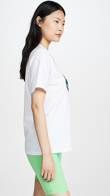 Markus Lupfer 彩虹唇形 T 恤