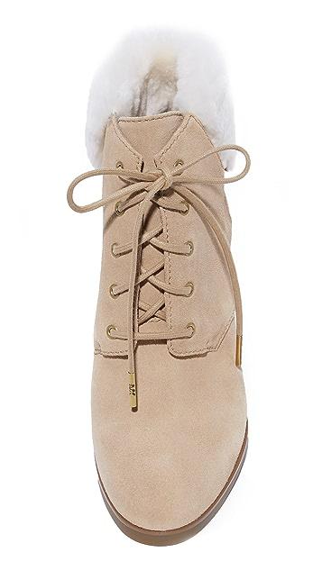 MICHAEL Michael Kors Carrigan 连毛羊皮坡跟短靴