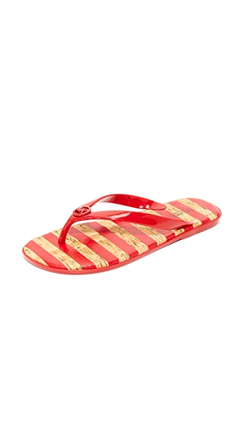 MICHAEL Michael Kors Jelly Jet Set 夹趾凉鞋