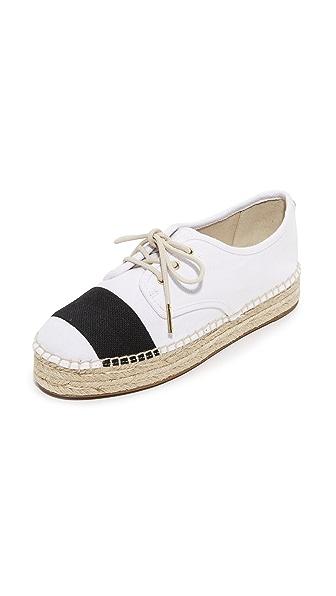 MICHAEL Michael Kors Ivy 系带编织底布面鞋