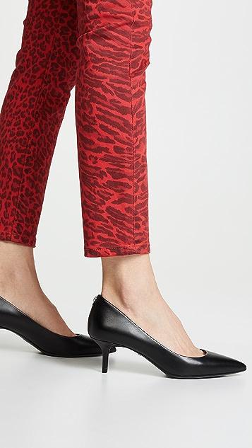 MICHAEL Michael Kors MK Flex 方锥矮跟浅口鞋