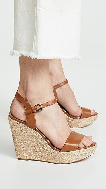MICHAEL Michael Kors Jill 坡跟绑带凉鞋