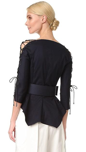 Monse 裙型腰褶外套
