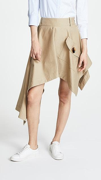 Monse 不对称口袋半身裙