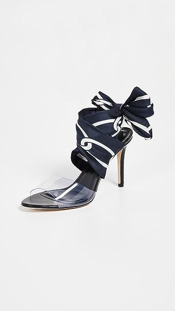 Monse 链条印花踝带凉鞋