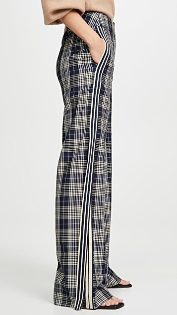 Monse 条纹复古格子长裤