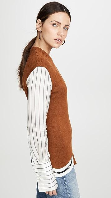 Monse 细条纹衣袖针织毛衣