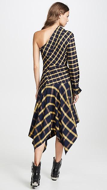 Monse 不对称拼接连衣裙