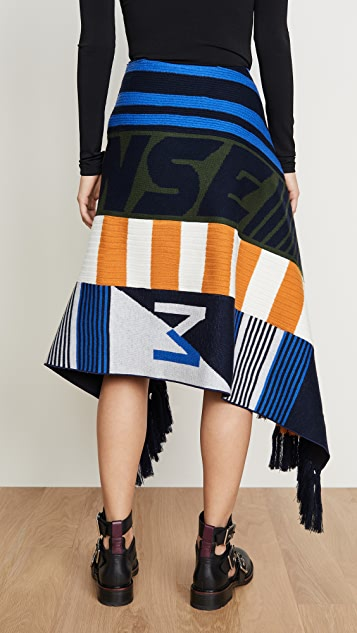 Monse 围巾元素半身裙