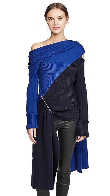 Monse 双色围巾针织