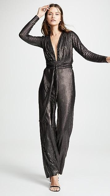 Melissa Odabash 金属元素条纹连身衣