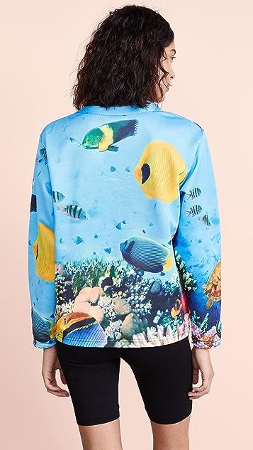 Moschino 海洋印花运动衫