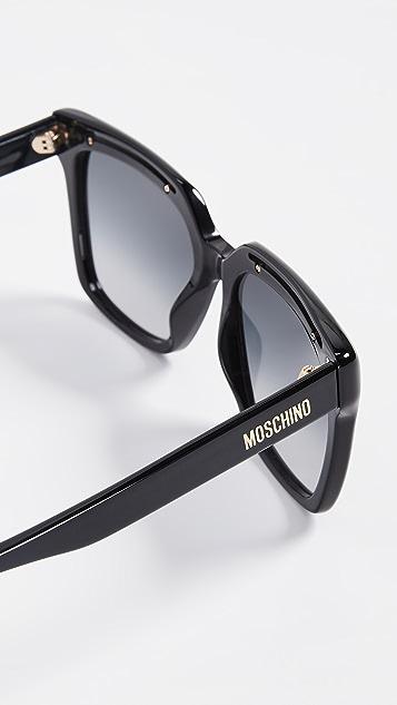 Moschino 醋酸纤维塑料方形太阳镜