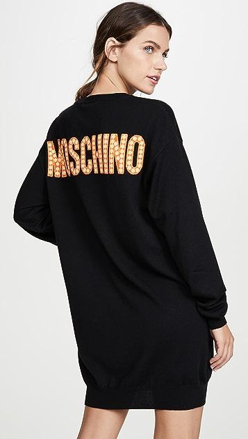 Moschino Troll 毛衣连衣裙蓝色