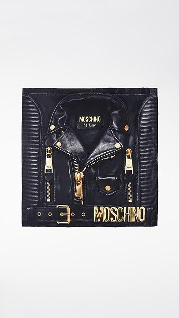 Moschino 机车夹克图案围巾