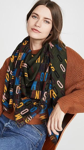 Moschino 彩虹字母徽标围巾