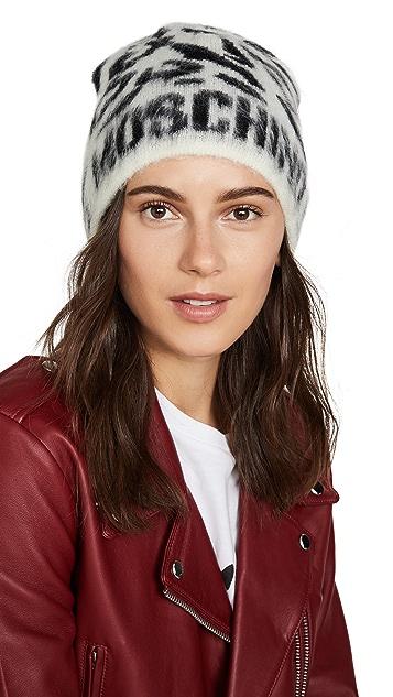 Moschino 豹纹徽标帽子