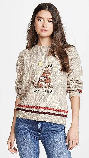 MOTHER 羊驼毛宽松套头毛衣