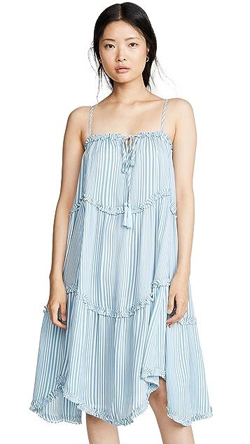 Moon River 天蓝色条纹连衣裙