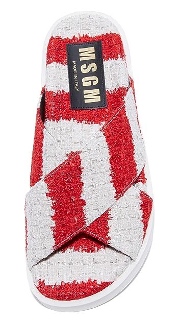MSGM 交叠环绕式凉鞋