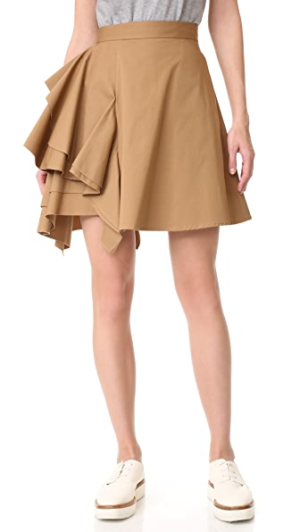 MSGM 荷叶边半身裙
