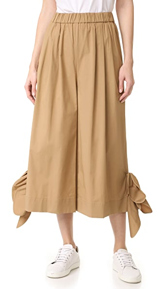 MSGM 侧边绑带裤子