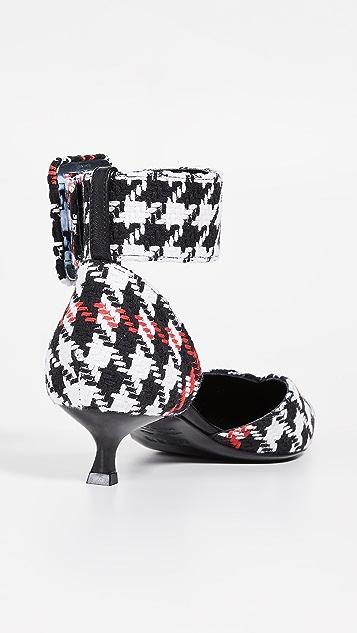 MSGM 脚踝绑带低跟鞋