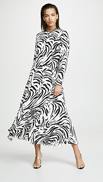 MSGM 斑马纹长连衣裙