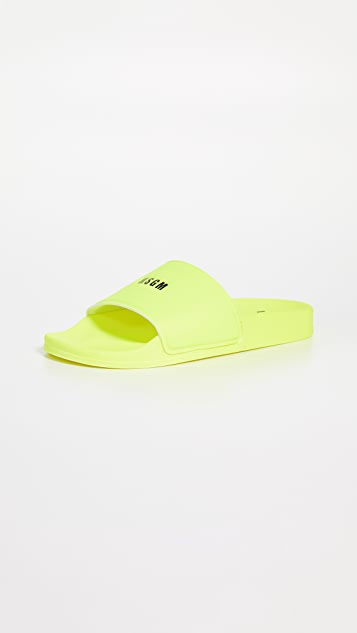 MSGM 微型徽标池边凉拖鞋