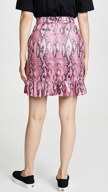 MSGM 蟒蛇纹半身裙