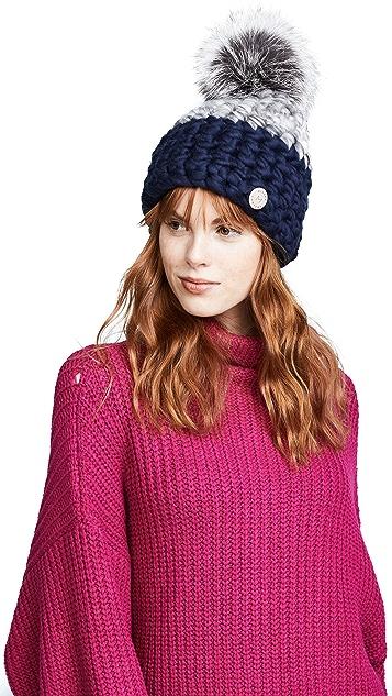 Mischa Lampert 拼色针织帽子
