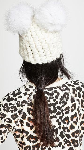 Mischa Lampert 双绒球针织帽