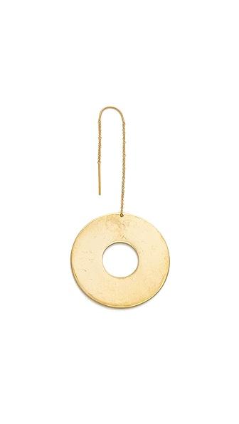 Modern Weaving 大号甜甜圈垂式单耳环