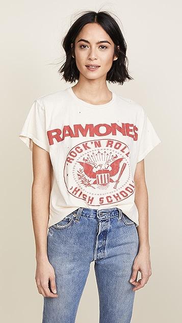 MADEWORN ROCK Ramones 1979 Rock 印花 T 恤