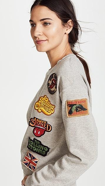 MADEWORN ROCK Rolling Stones 1978 运动衫