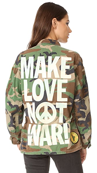 MADEWORN ROCK Make Love Not War 夹克