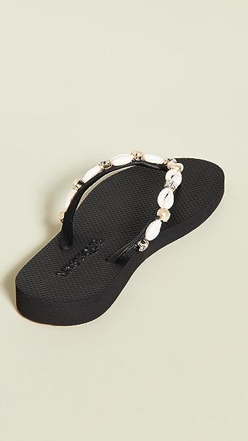 Mystique 贝壳夹趾凉鞋