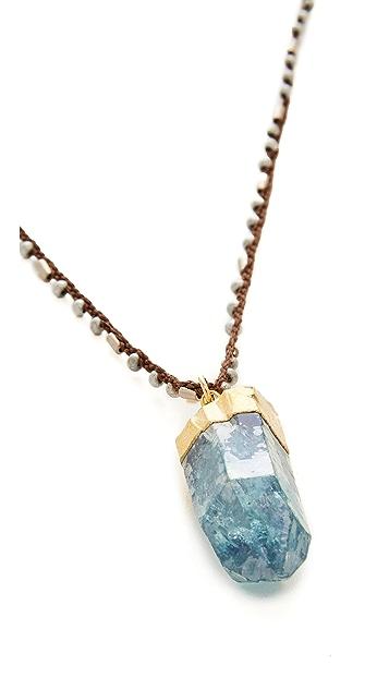 天然宝石 Mystic Aqua Aura 项链