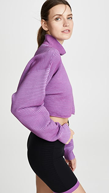 NAGNATA 裁短设计罗纹毛衣