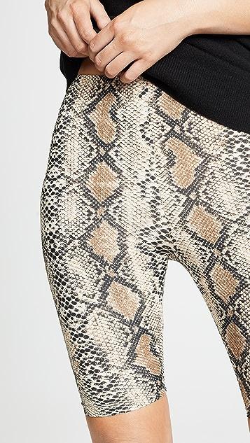 re:named 蛇皮机车短裤