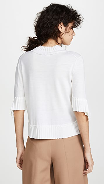 Nina Ricci 褶皱针织毛衣