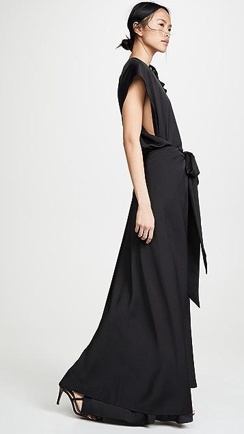 Nina Ricci 流线型泡泡纱连衣裙