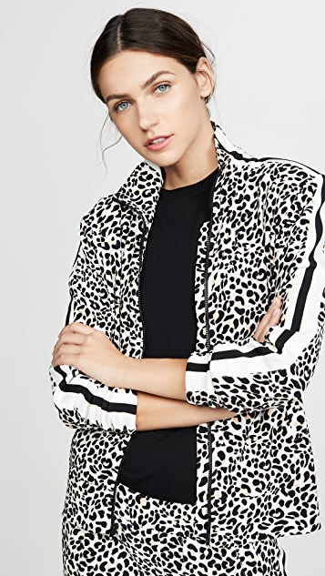 Norma Kamali 侧边条纹高领夹克