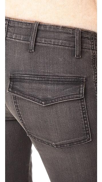 Nili Lotan 法式军旅风九分牛仔裤