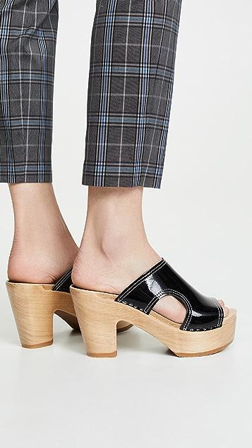 No. 6 Alexis 镂空厚底木底鞋