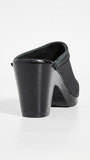 No. 6 经典高跟木底鞋