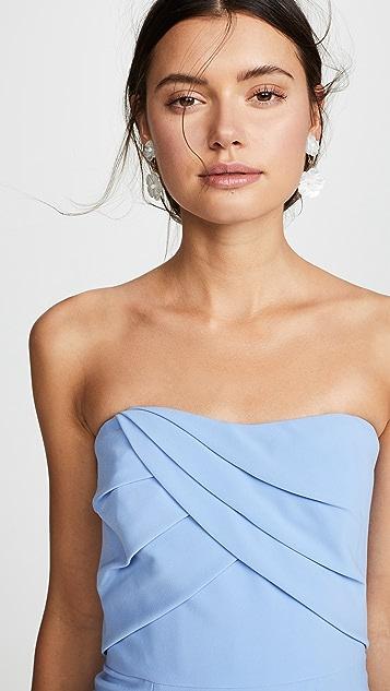 Marchesa Notte 无袖垂褶衣身礼服
