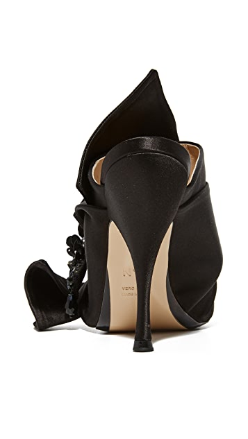 No. 21 水晶蝴蝶结穆勒鞋