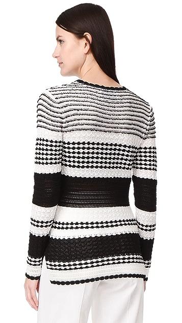 Novis Monroe 条纹圆领毛衣
